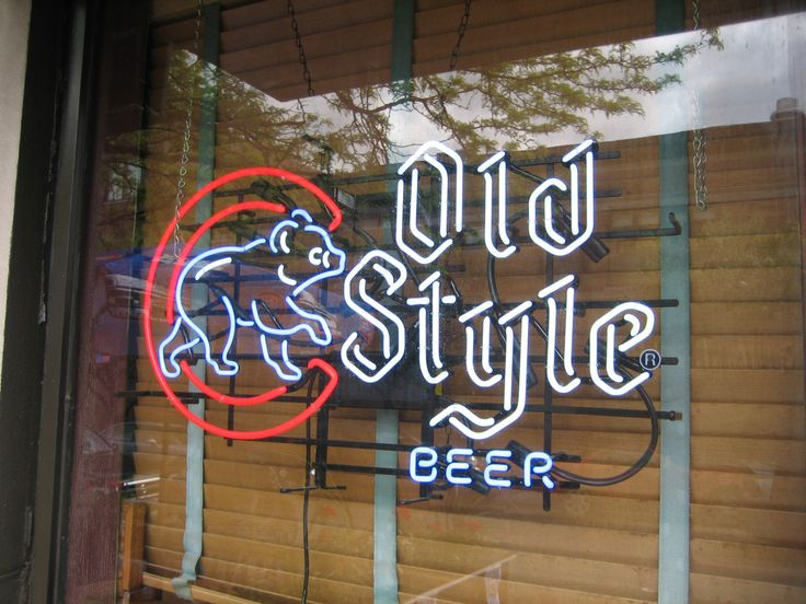 Beer Sign .. Old Style Beer .. Chicago Cubs .. Baseball .. Chicago