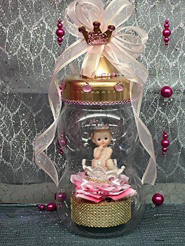 Bebé ducha princesa chica botella adorno de por onlinepartycenter