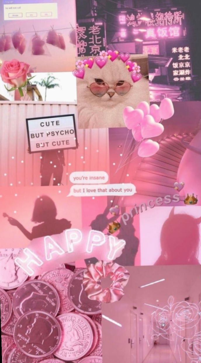 Cute Aesthetic Collage Pink Candy Ensaioinfantil Mundorosa Pink Wallpaper Iphone Aesthetic Iphone Wallpaper Iphone Wallpaper Images