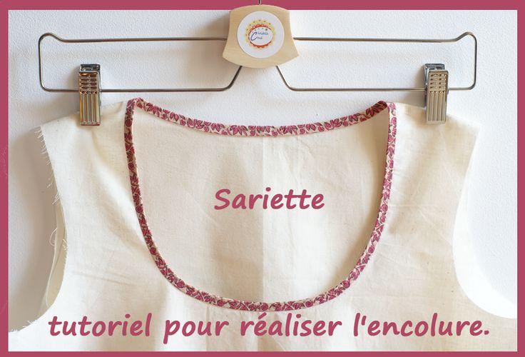 Je couds, tu couds, nous cousons ...: L'encolure de la blouse Sariette ( tuto ).