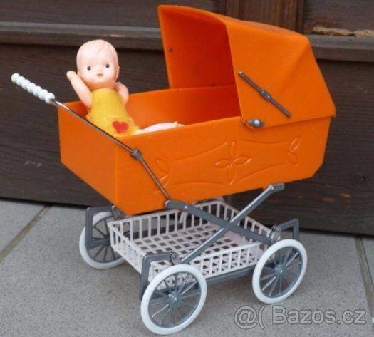Malý/ mini kočárek pro panenky - 1