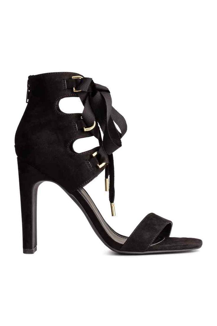 Sandálias com atacadores | H&M