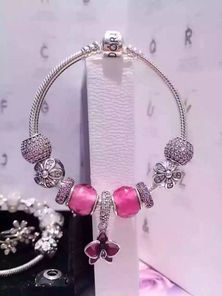 50% OFF!!! $239 Pandora Charm Bracelet Purple. Hot Sale!!! SKU: CB01682 - PANDORA Bracelet Ideas