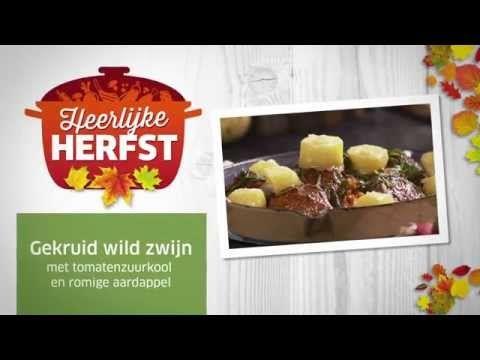 Wild zwijn met tomatenzuurkool en aardappel #Lidl #Herfst