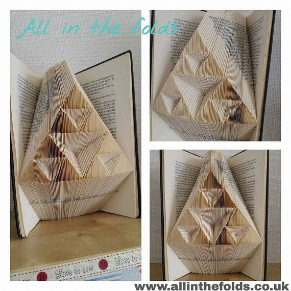 Geometric Triangle MMf book folding pattern