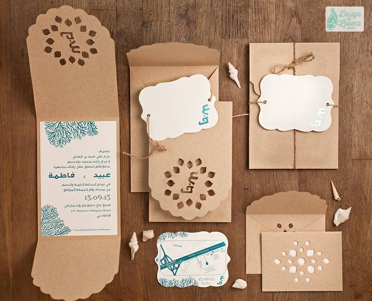 The Invitation Card Was A Break From The Norm, A Fresh Take On An U201cOceanu201d  Themed Wedding With Small Elements Of Surprise As You Unfold.