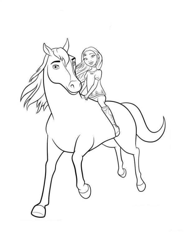 spirit and lucky coloring pages Coloring page Spirit Riding Free: Spirit Lucky 2 | horse  spirit and lucky coloring pages
