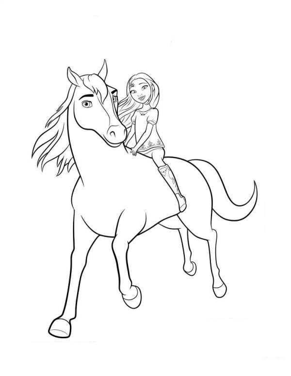 Coloring Page Spirit Riding Free Spirit Lucky 2 Horse Coloring Pages Spirit The Horse Spirit Horse Movie