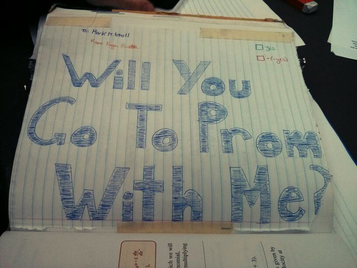 Would you help me with this question? How my friend asked her crush to prom .. In a Calculus Textbook!
