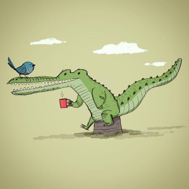 Новым, картинки прикольного крокодила