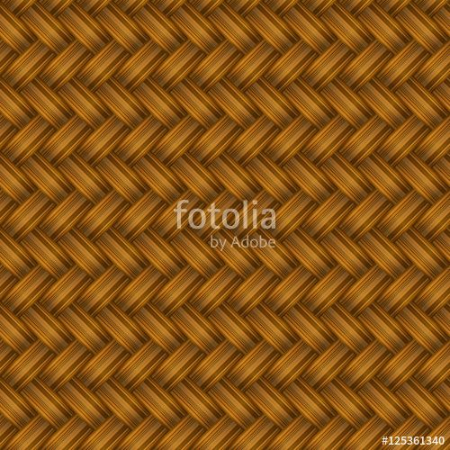 Vektör: Brown Wicker Seamless Pattern.