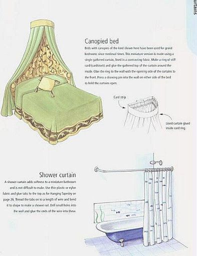 DIY doll house bed canopy