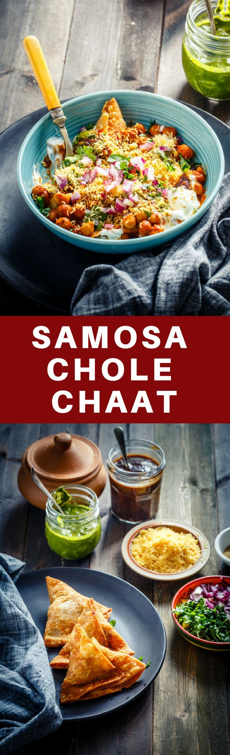 Samosa Chaat #streetfood #indianstreetfood #samosa #chaat