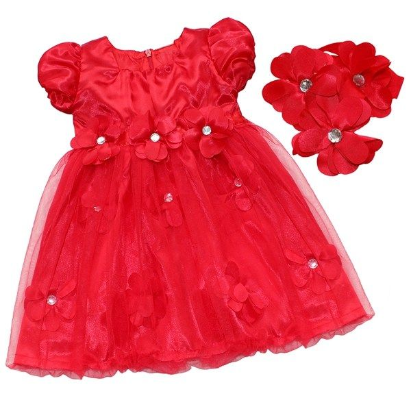 Princess Flower Tulle Gown with Headband //Price: $24.95 & FREE Shipping //     https://babyclothingusa.com/product/princess-flower-tulle-gown-with-headband/  #babyclothingusa #babydress