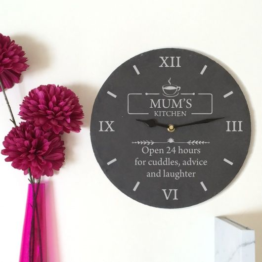 Mother's Day Slate Clock