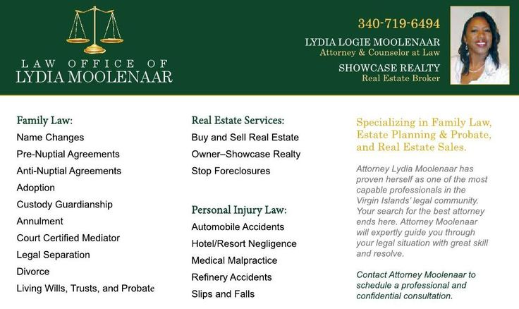 Need pre-nuptial agreements or legal advice? Contact Attorney Lydia Logie Moolenaar.  Specializes in Family Law and Estate Planning. In addition ask her about Showcase Realty when looking for that special home. Click photo for more information https://issuu.com/stcroixcaribbeanweddings/docs/stcroix-caribbean-weddings-issue-20/c/splj3e9 #weddings #engagements #virginislands #caribbean #stcroix #destinationweddings #vinice #ClippedOnIssuu from Elegant St. Croix Caribbean Weddings Issue 5…