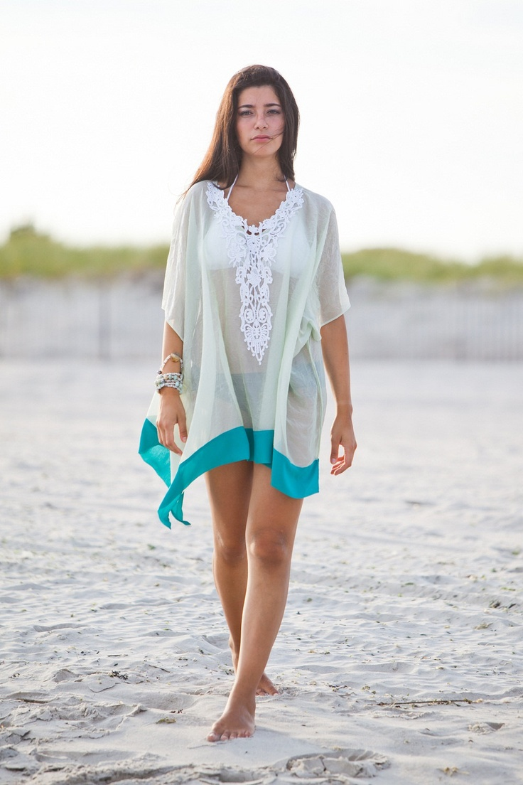 Beach cover up, kaftan, plus size, honeymoon beach kaftan. $37.00, via Etsy.