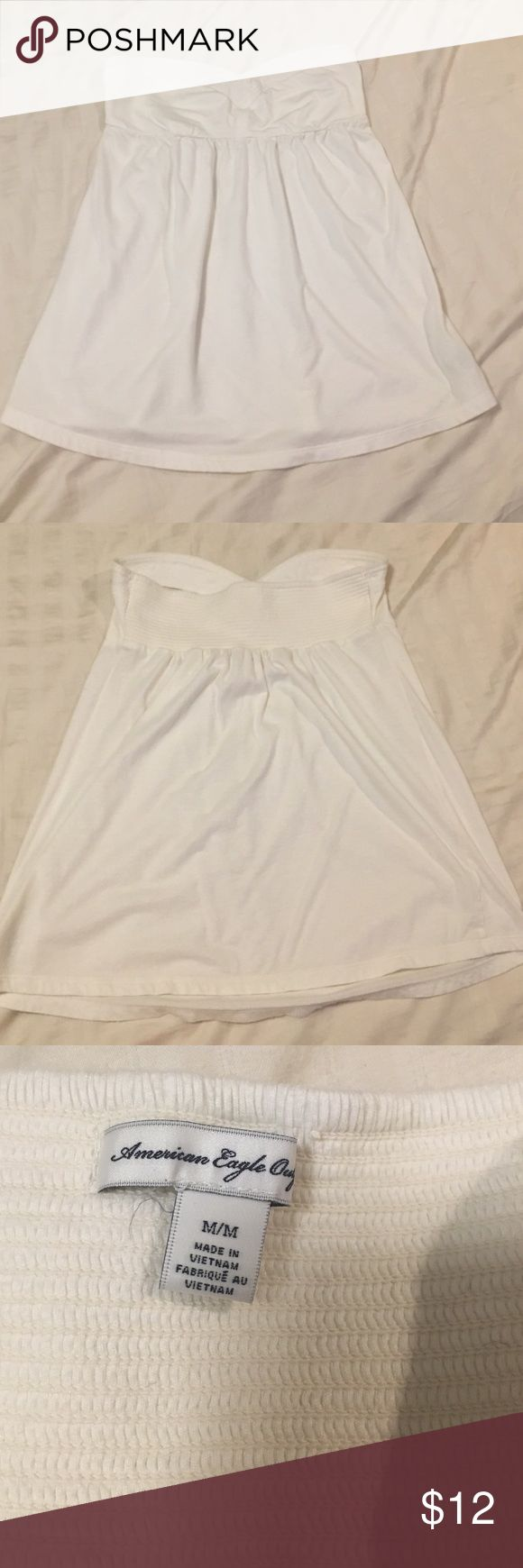 Strapless top American Eagle strapless top. White Tops