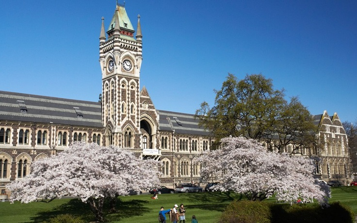 Otago University in New Zealand has a number of striking buildings, including this 19th-century neo-Gothic structure at the heart of the campus. And as if that wasn't enough, its sits beside a river.