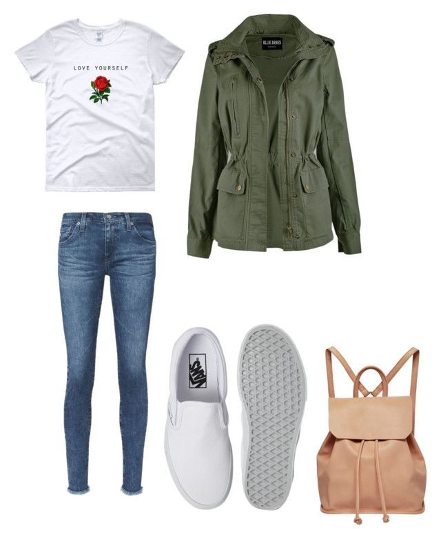 Cloudy days by lexisyoung on Polyvore featuring polyvore, fashion, style, AG Adriano Goldschmied, Vans, Urban Originals and clothing