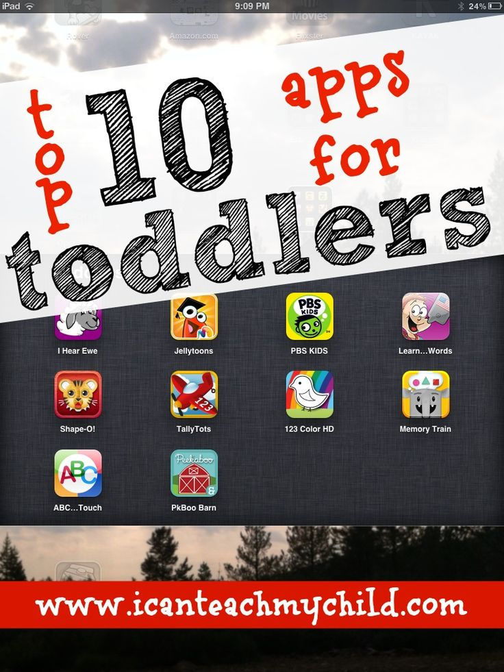 Toddlers can learn from an iPad/iPhone too! Check out our list of the top 10 apps for toddlers!