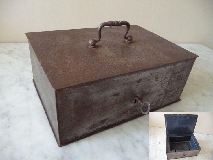 Ancien Petit Coffre Fort Acier CLE Vers 1900 Fonctionne   eBay