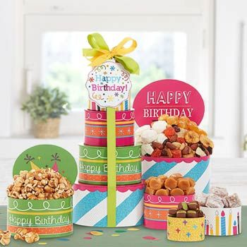 Happy Birthday Gift Tower See More At Tbasketpros
