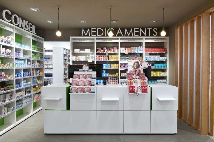 Espace caisse- comptoir pixel-Mobil-M Pharmacie du Parc