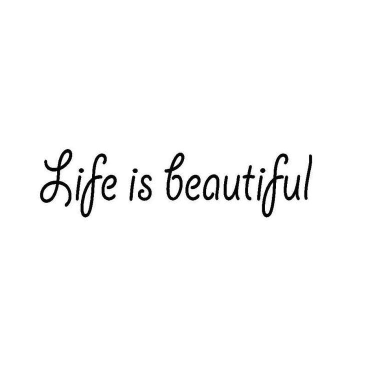 Life Is Beautiful Vinyl Decal Sticker