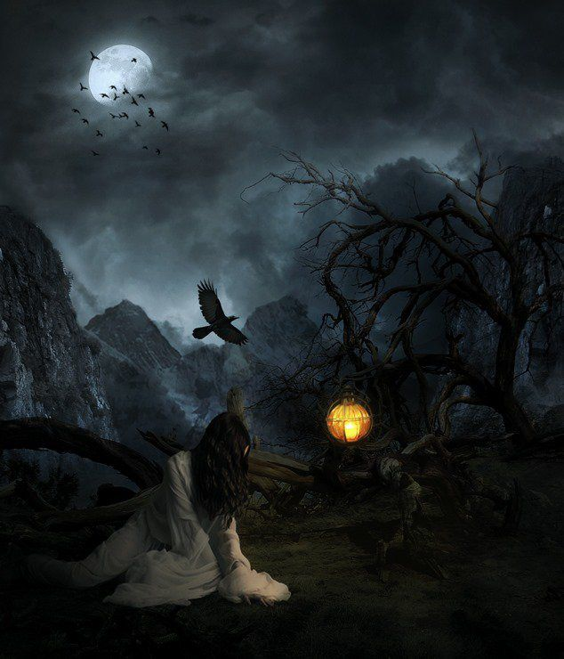 Creepy Lady on a Dark Mountain - Learn How to Create This Composite in Photoshop - http://wp.me/p4R2sX-6vR