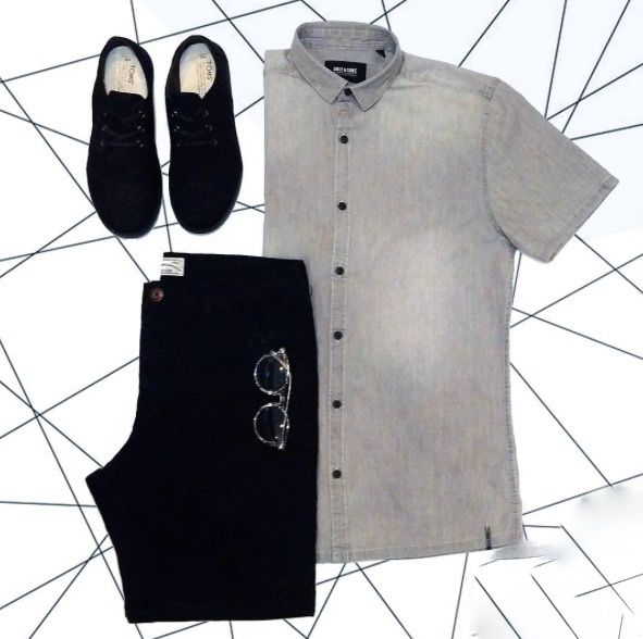 Planned Fashion. It's how you wear it that creates style.  #style #outfitoftheday #menswear #fashion #blackandwhite #contrast #shorts #accessories #shoes #new Shop this look at www.kixs.ca