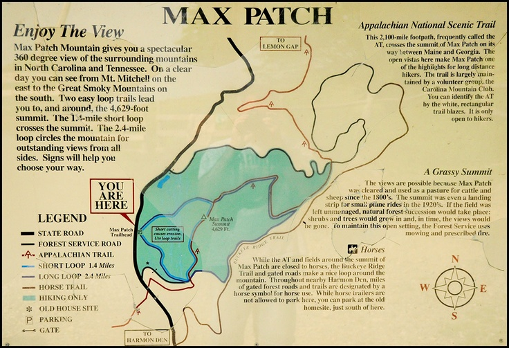 ♥ Max Patch near Asheville, NC ... a gorgeous 4,629' mountain top bald with incredible year-round 360° views that is crossed by the Appalachian Trail, also providing one of the best and most favorite views of all the AT mountain vistas.