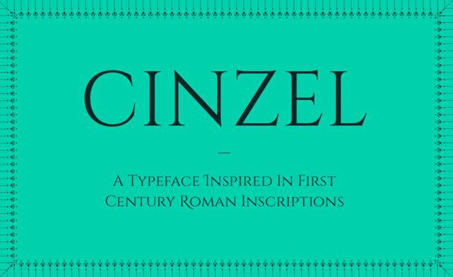 Cinzel Font Family · 1001 Fonts