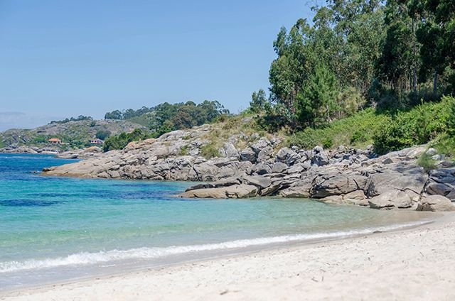 Playa Areacova en Cangas Pontevedra - Galicia