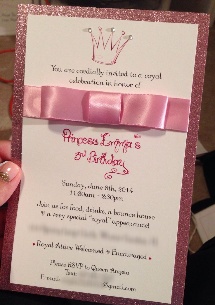 Princess Party Invitations!