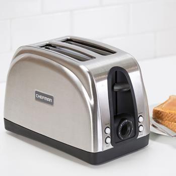 Chefman Wide Slot Toaster 2-Slice Stainless Steel | Kitchen Stuff Plus  #KSPPin2Win
