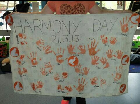 Harmony day activity. Or beginning of school activity