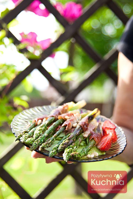 #szparagi z #grill.a z szynką parmeńską  #kuchnia #przepis
