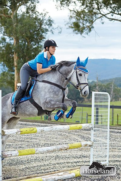 Horseland sponsored rider Chelsea Priestley and her gorgeous horse Annie Wonder clearing the show jump easily! Chelsea is wearing: Dublin Colby polo Annie Wonder wears: Roma Valegro All Purpose pad Roma Valegro Open Front Boots Roma Valegro Fetlock Boots Roma Valegro Ear Cover