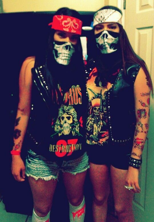 Badass Biker Chicks eazy costume to make extremely creative! Very well put together. Just an idea