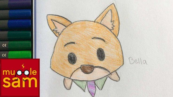 Kids Art Challenge! Drawing Nick Wilde Zootopia Tsum Tsum | Mugglesam
