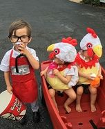 Colonel Sanders and Two Chickens Homemade Costume