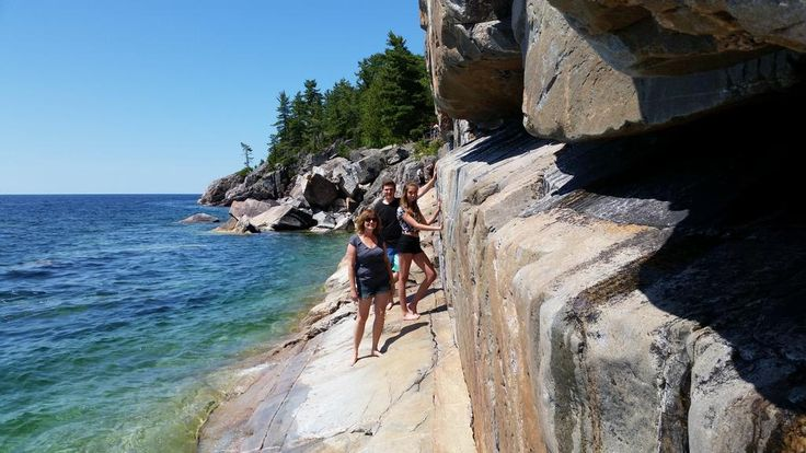 Checking out the Pictographs at Lake Superior PP @OntarioParks @AnitaCianciolo
