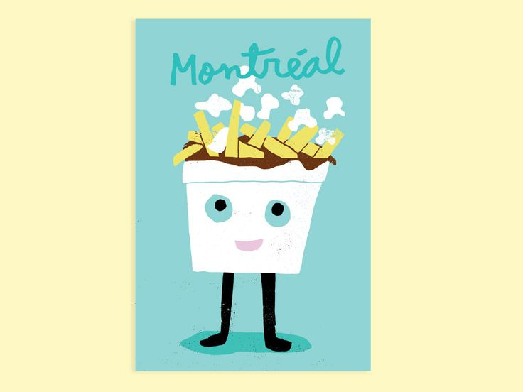 Montréal – POUTINE by PAPEROLE on Etsy