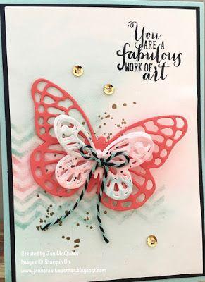 Work of Art, Gorgeous Grunge,  bold Butterfly Framelits, Butterfly Thinlits, Gold EP, Jan's Creative Corner