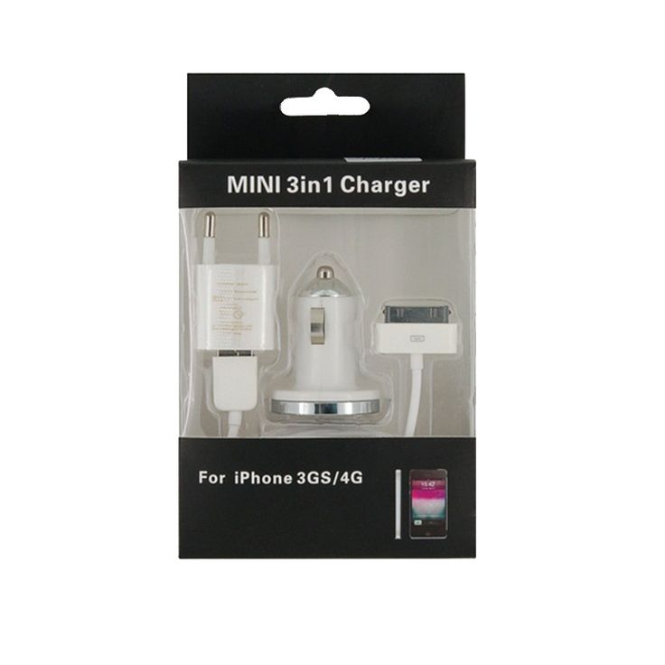 Mini 3 in 1 Charger Kit για iPhone 3GS/4G