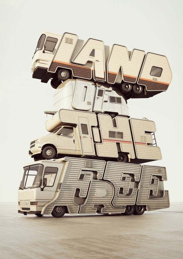 You! Be Inspired! – Incredible 3D Typography by Chris LaBrooy #typography