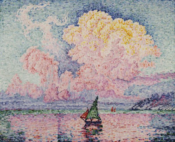 Pink Clouds, Antibes, 1919 by Paul Signac from Private collection