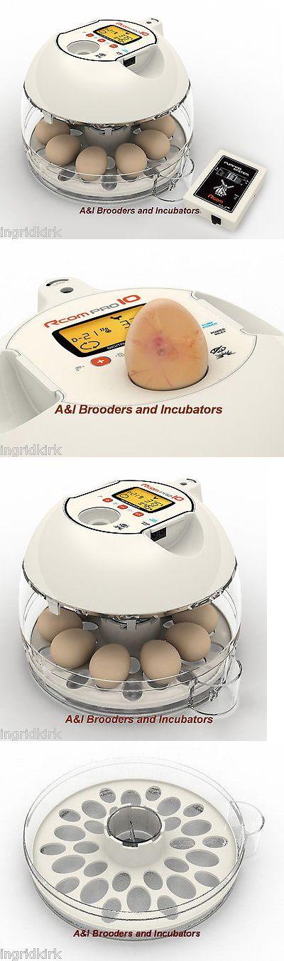 Incubators 46292: Rcom Pro10 Plus Automatic Egg Incubator Quail Chicken Avian Digital Warranty Usa BUY IT NOW ONLY: $239.95
