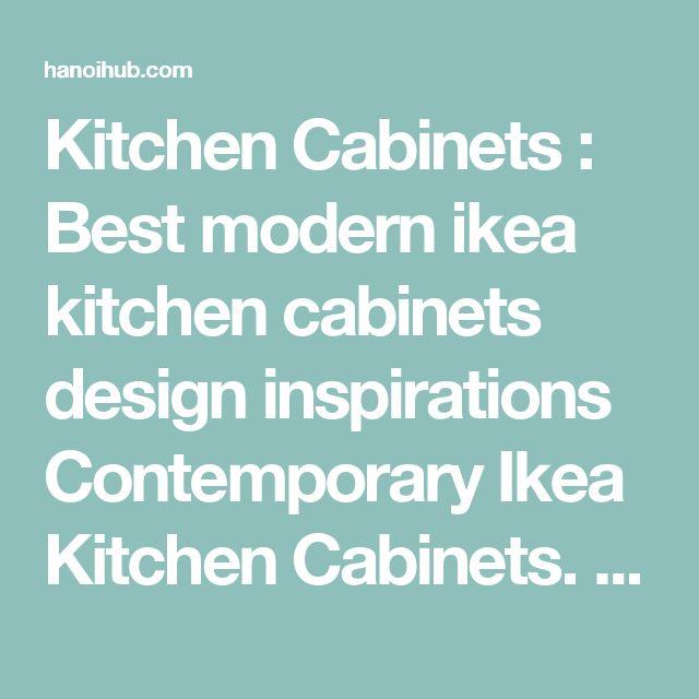 Die besten 25+ Contemporary ikea kitchens Ideen auf Pinterest - k che online planen ikea